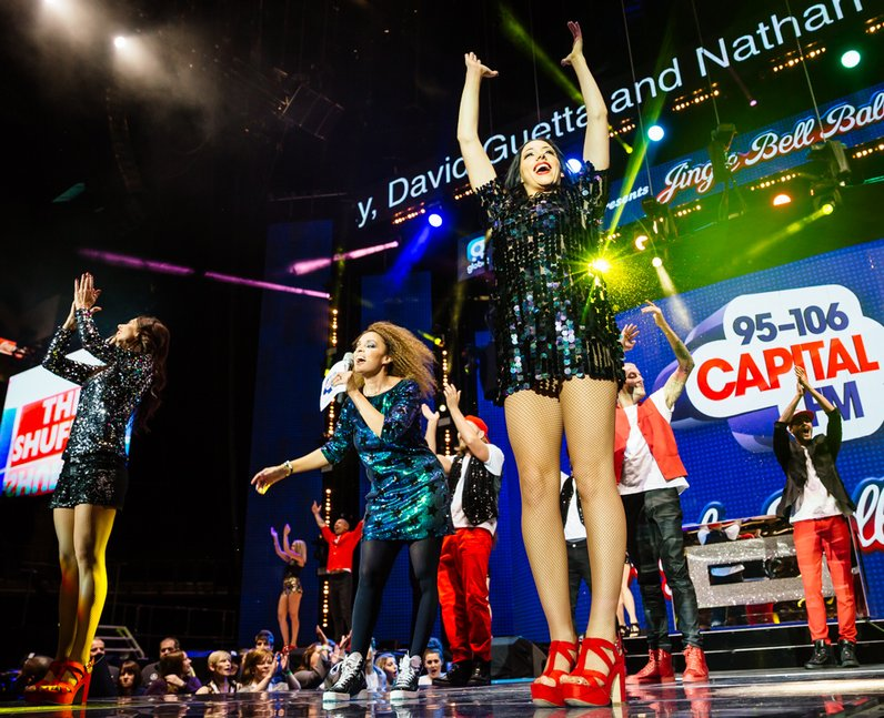 Pandora on stage at the Jingle Bell Ball 2015
