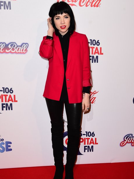 Carly Rae Jepson Red Carpet Jingle Bell Ball 2015