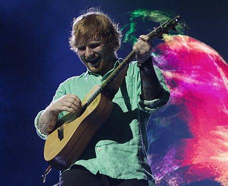 Ed Sheeran performing on his 'X Tour'