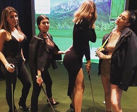 Kardashians Family Golf Instagram