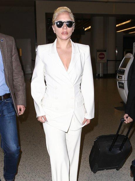 Lady Gaga JFK Airport 2015