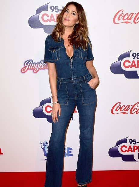 Lisa Snowdon Red Carpet Jingle Bell Ball 2015