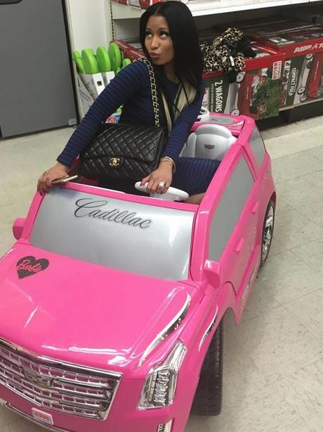Nicki Minaj In A Tiny Cadillac Instagram
