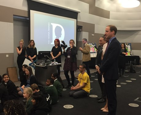 Prince William at Bournville College