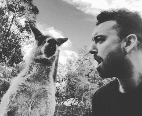 Sam Smith Kangaroo Selfie Instagram