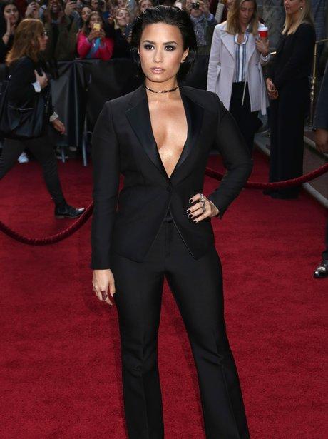 Demi Lovato attends the 2015 Billboard Women in Mu