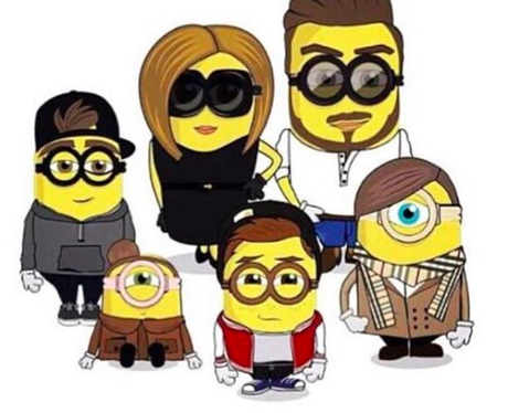 Beckhams as minions Instagram