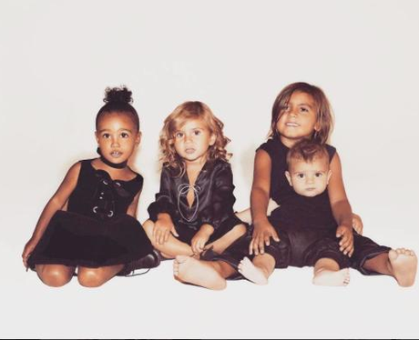 Kardashian kids xmas card 2015