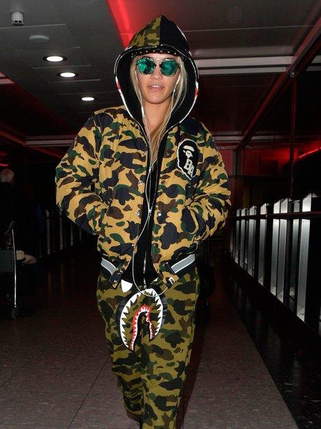 Rita Ora at Heathrow Airport