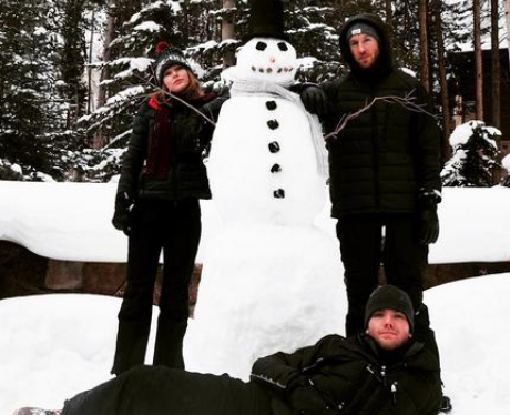 Taylor Swift Calvin Harris Snowman Instagram