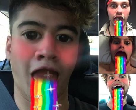 5SOS Snapchat Rainbow Vomit