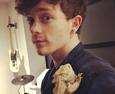 The Vamps Connor Ball Lizard Instagram