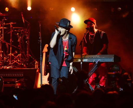Bruno Mars performs on New Years Eve in LA