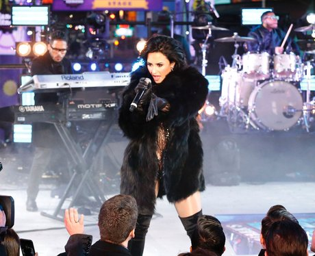 Demi Lovato performs during New Year's Eve celebra