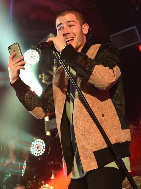 Nick Jonas performs at Foxtail Nightclub on NYE