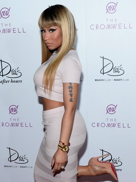 Nicki Minaj arrives at Drai's Beach Club