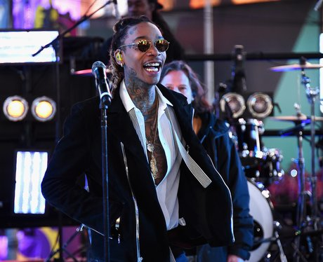 "Wiz Khalifa performs ""See You Again"" on stage with"