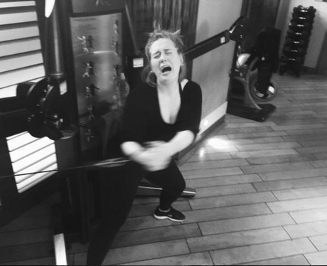 Adele Instagram In the Gym
