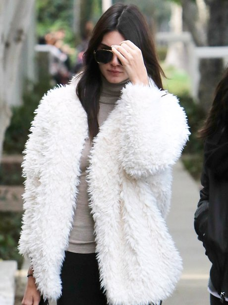 Kendal Jenner White Coat