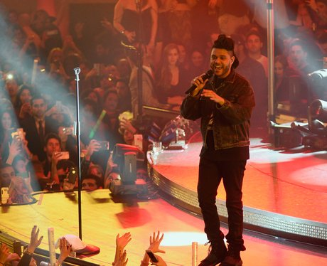 The Weeknd performs at Drai's Beach Club