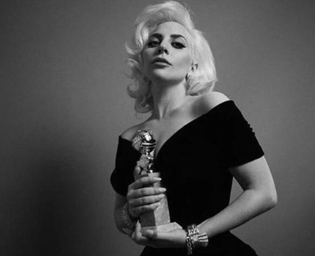 Lady Gaga Golden Globes Instagram