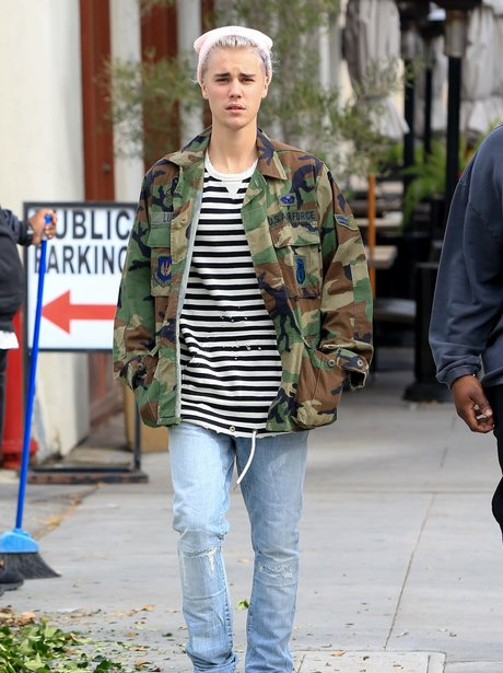 Justin Bieber is seen in Los Angeles, California