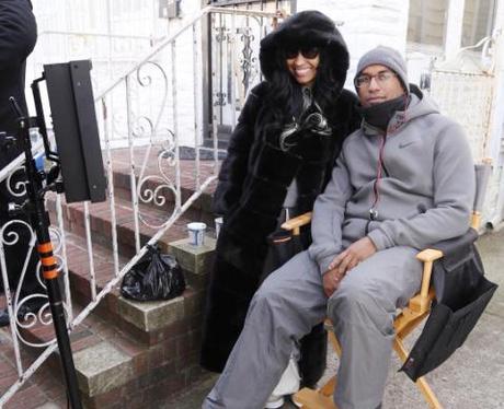 Nicki Minaj on set for 'Nicki'