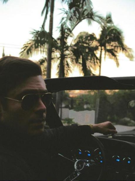 Zac Efron driving in LA