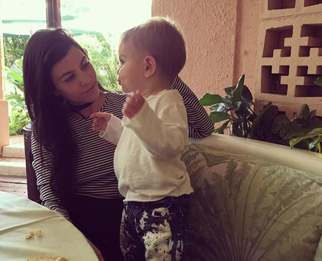 Kourtney Kardashian takes son, Reign for lunch dat