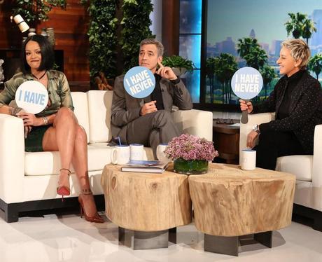 Rihanna Ellen De Generes show George Clooney