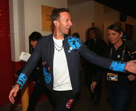 Coldplay Chris Martin Super Bowl 2015 arrival