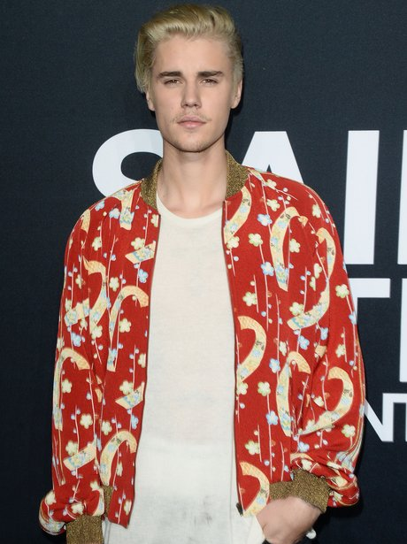 Justin Bieber arrives at Saint Laurent