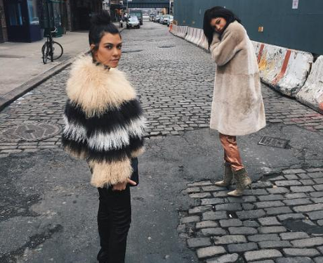 Kourtney and Kylie in New York