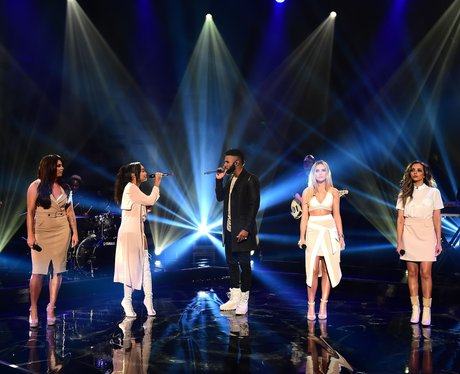 Little Mix and Jason Derulo filming TV show
