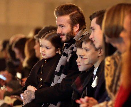 The Beckham family attend Victoria Beckham's fashion show