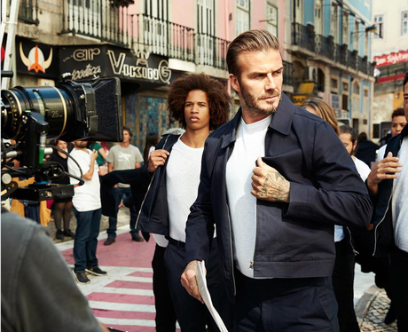 David Beckham launches latest collection with H&M