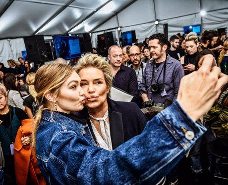 Gigi Hadid and Yolanda Foster backstage at Tommy H