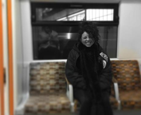 Jesy Nelson on the tube