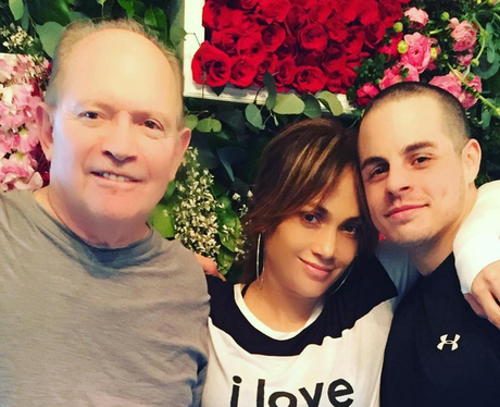 J.Lo spends Valentine's Day with Casper Smart and her DAD.