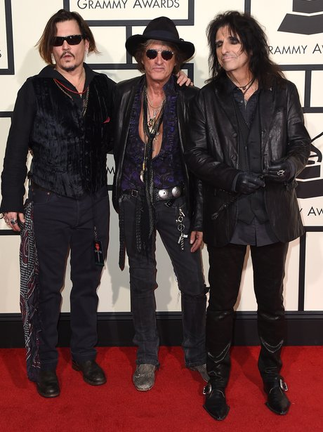 Johnny Depp, Joe Perry, and Alice Cooper