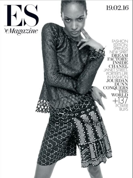 Jourdan Dunn OWNS the cover of ES Magazine