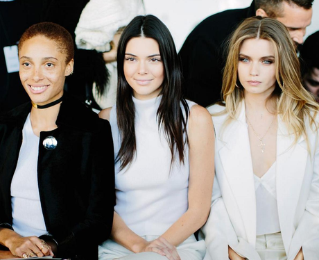 Kendall Jenner sits FROW at Calvin Klein