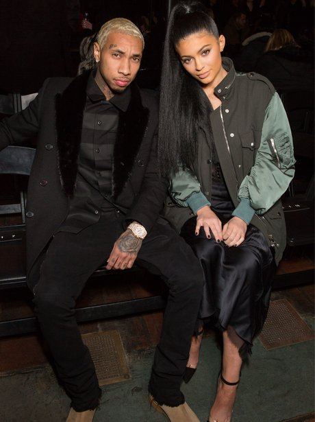 Back on? Kylie Jenner and Tyga put on a united front at New York Fashion Week.