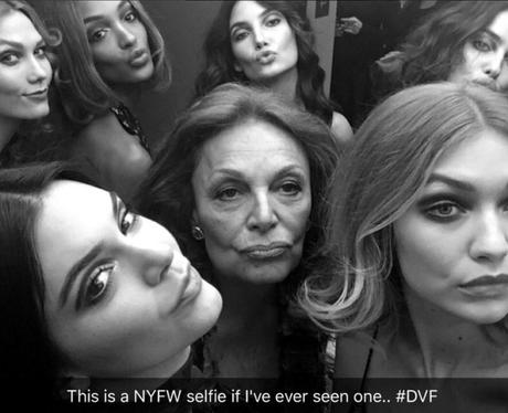 NYFW Selfie with Gigi Hadid, Kylie Jenner, Karlie