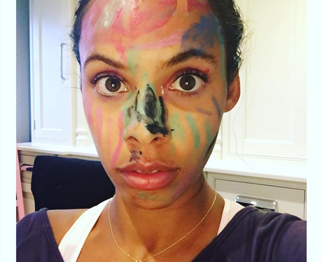 Rochelle Humes gets messy with her daughter