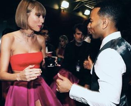Taylor Swift and John Legend at The Grammys 2016