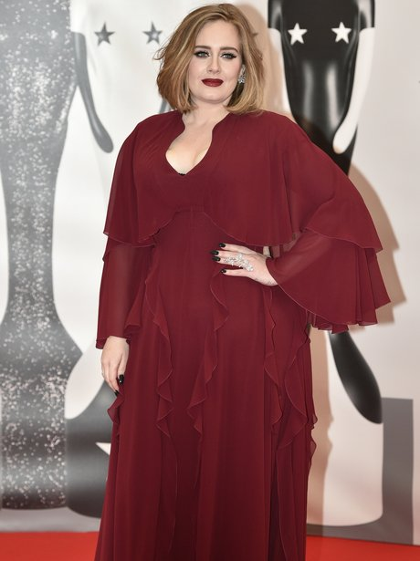Adele Red Carpet Arrival Brit Awards 2016