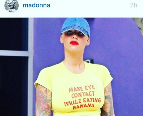 Amber Rose fangirls over Madonna's Instagram