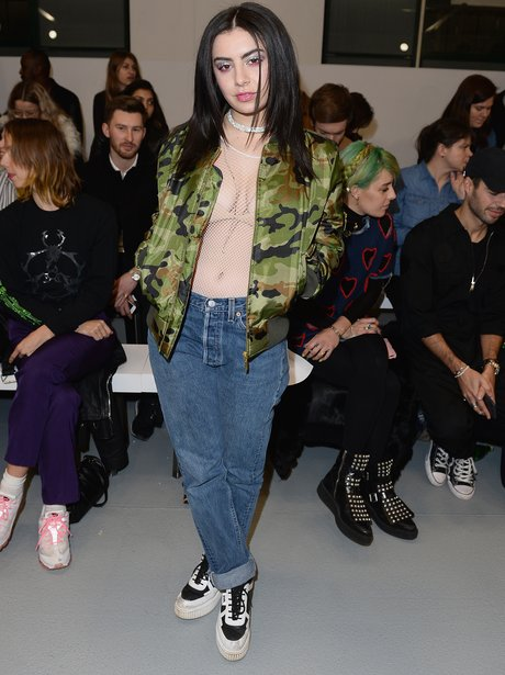 Charli XCX at London Fashion Week AW16