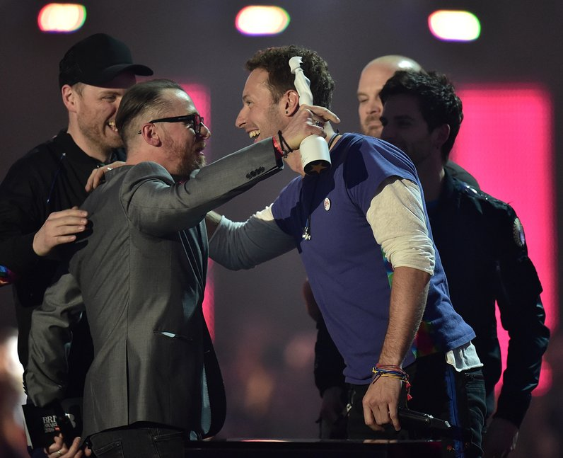 Coldplay Best British Band The Brit Awards 2016